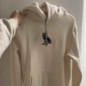 Unisex size small cream OVO hoodie w tags